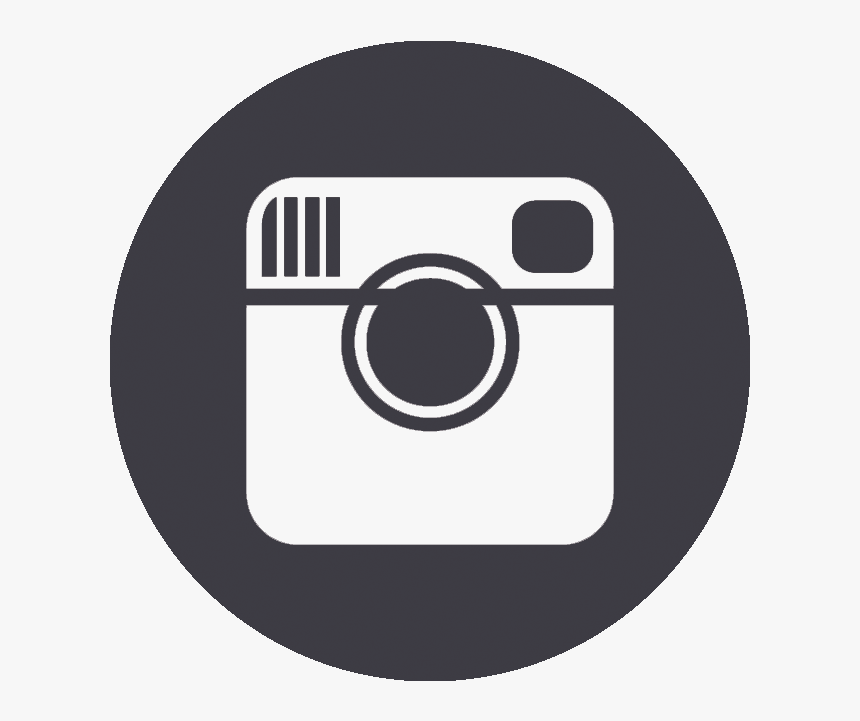 Instagram Round Icon Black Png, Transparent Png, Free Download