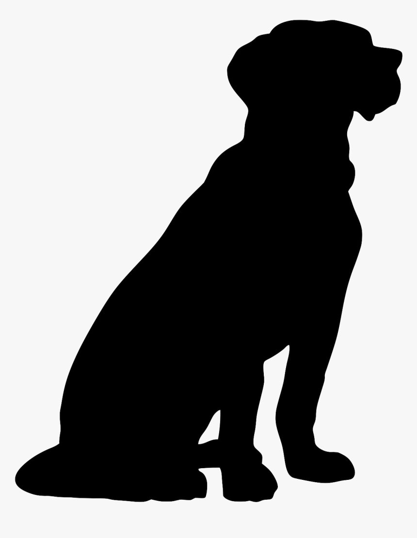 Sitting Dog Silhouette Png - Sitting Dog Silhouette Clip Art, Transparent Png, Free Download