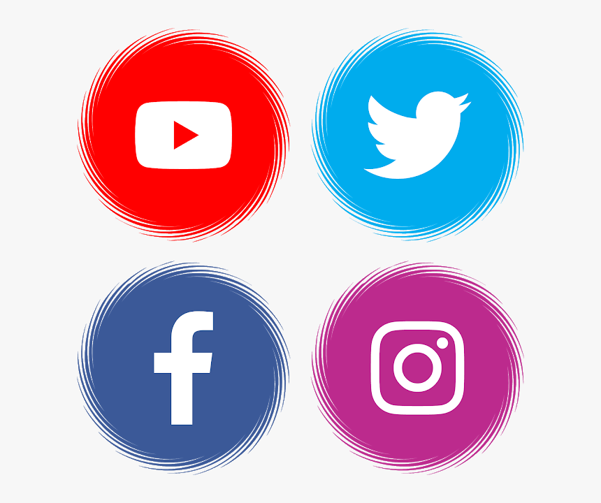 Facebook Instagram Twitter Icons Png - Facebook Instagram Youtube Logo, Transparent Png, Free Download