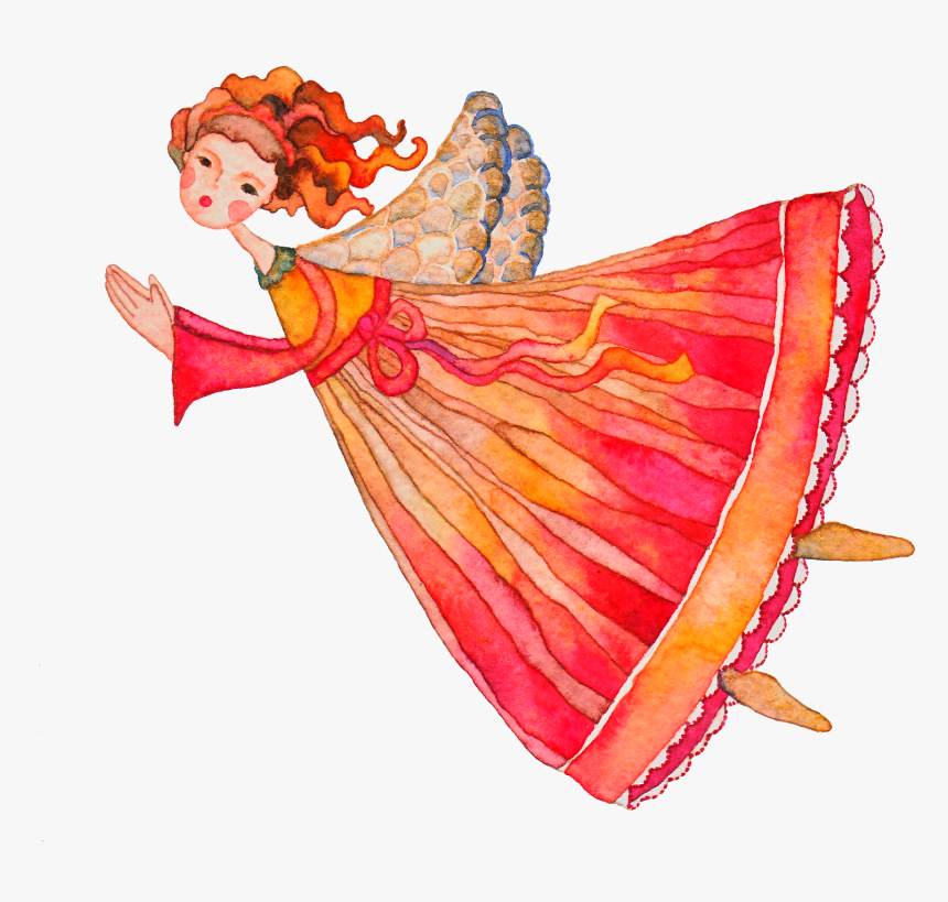 My Watercolor Illustration - Transparent Watercolour Angel, HD Png Download, Free Download