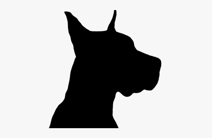 Dog Head Silhouette - Head Great Dane Silhouette, HD Png Download, Free Download