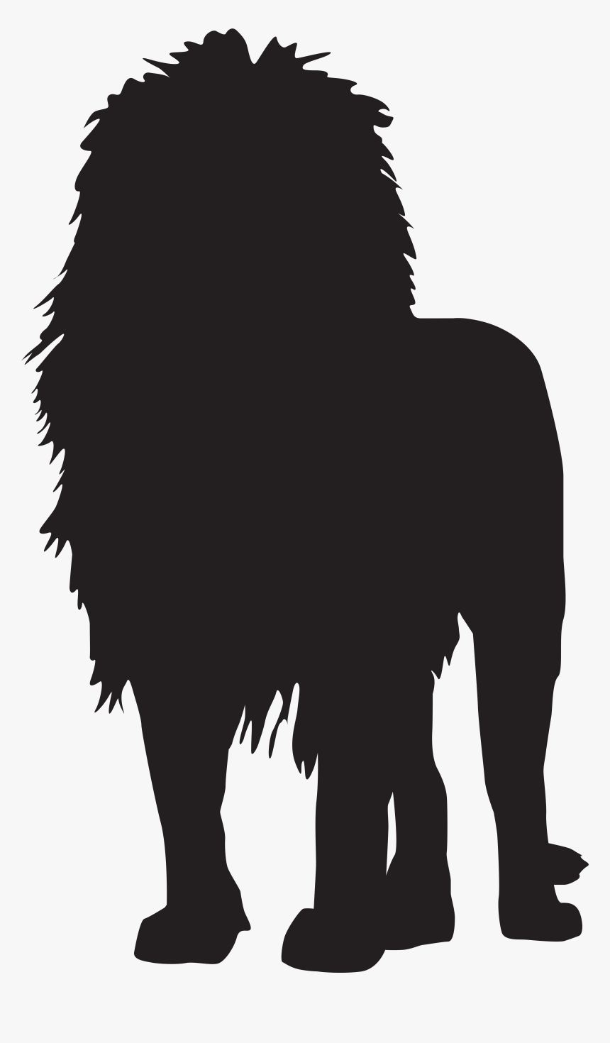 Transparent Dog Head Silhouette Png - Lion Silhouette No Background, Png Download, Free Download