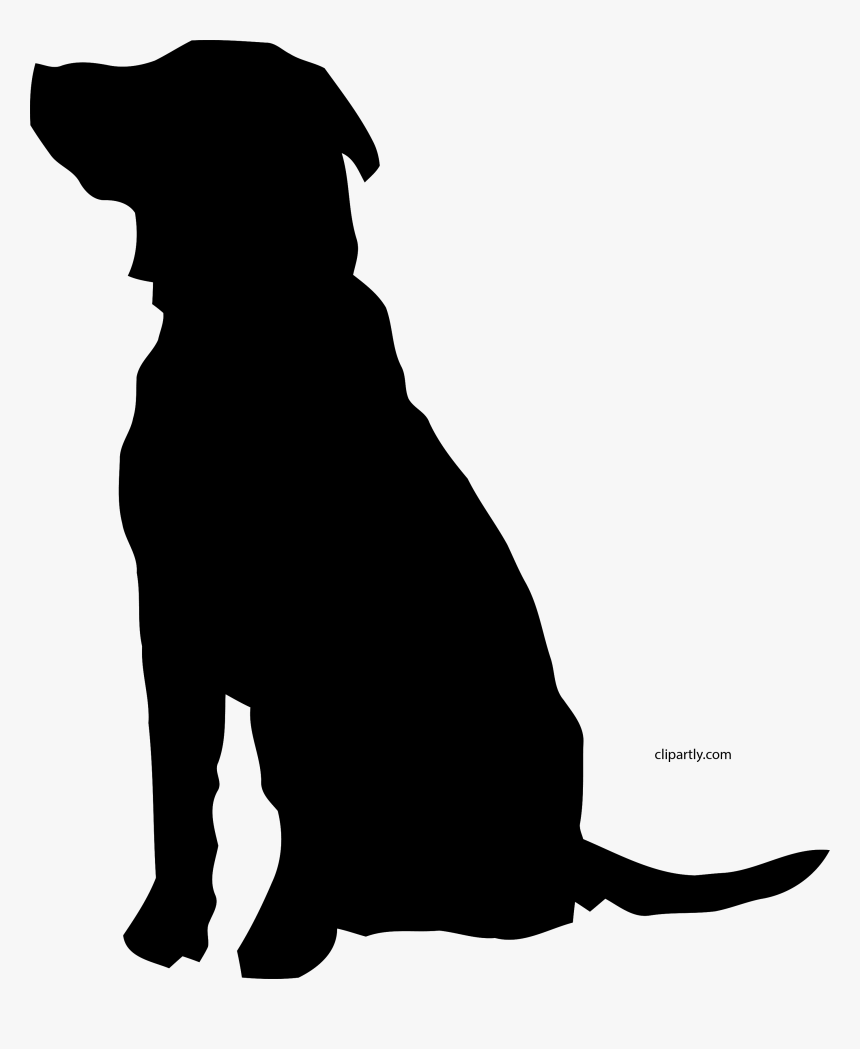 Black Dog Clipart Png Dog Silhouette - Silhouette Dog Clipart Black And White, Transparent Png, Free Download