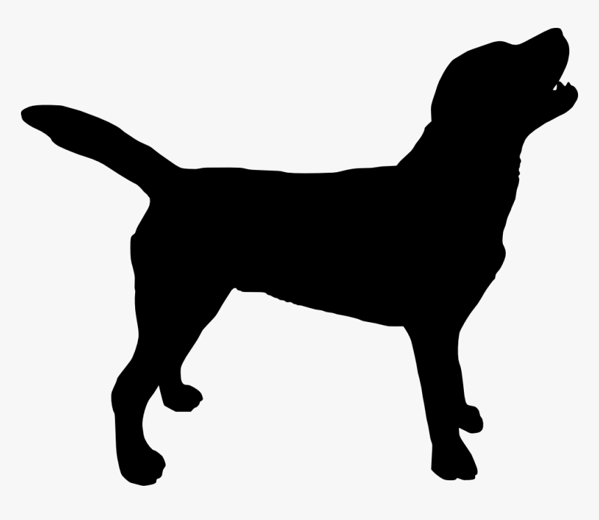 Dog Silhouette Png Free - Transparent Background Dog Silhouette, Png Download, Free Download