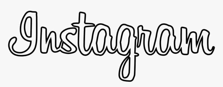 Instagram Logo White Text Black Background - Instagram Word Logo Png, Transparent Png, Free Download