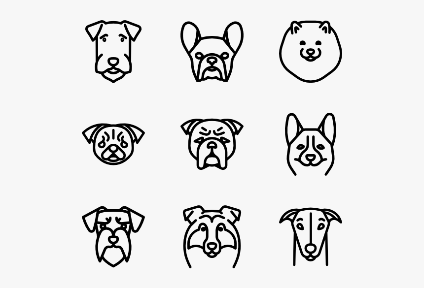 Dog Breeds Heads - Dog Breeds Icon, HD Png Download, Free Download