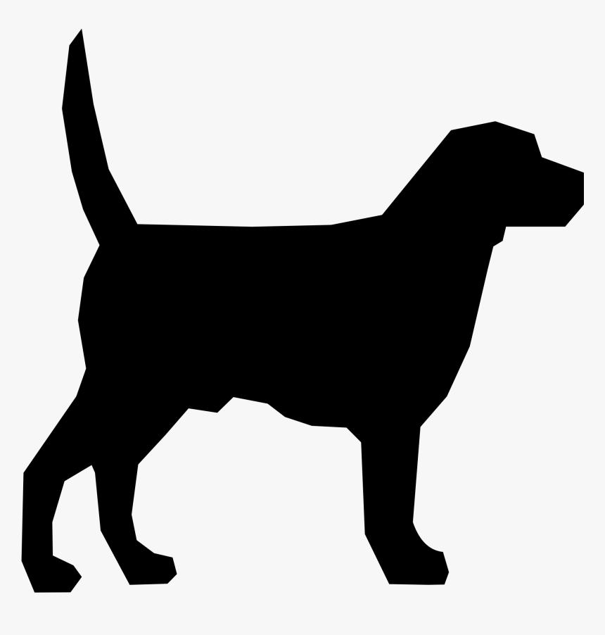 Clip Art Labrador Head Silhouette - Big Black Dog Cartoon, HD Png Download, Free Download