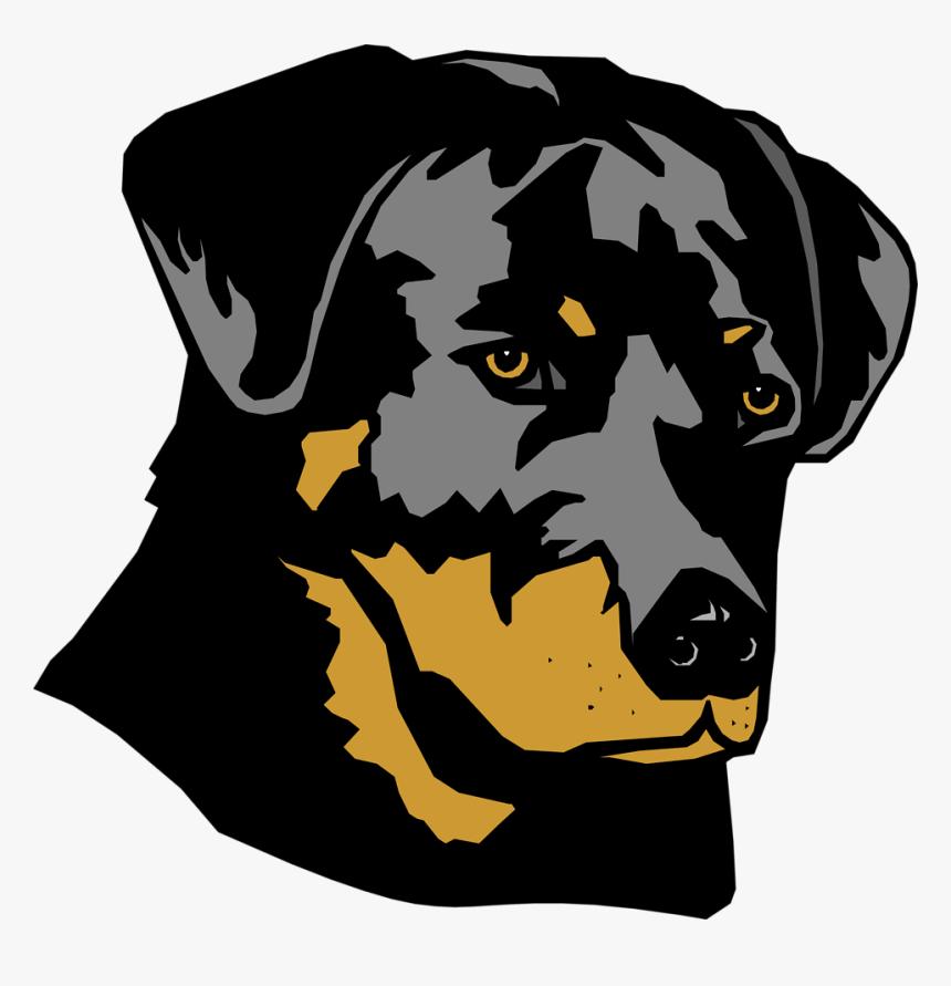 Transparent Dog Head Png - Rottweiler Clipart, Png Download, Free Download