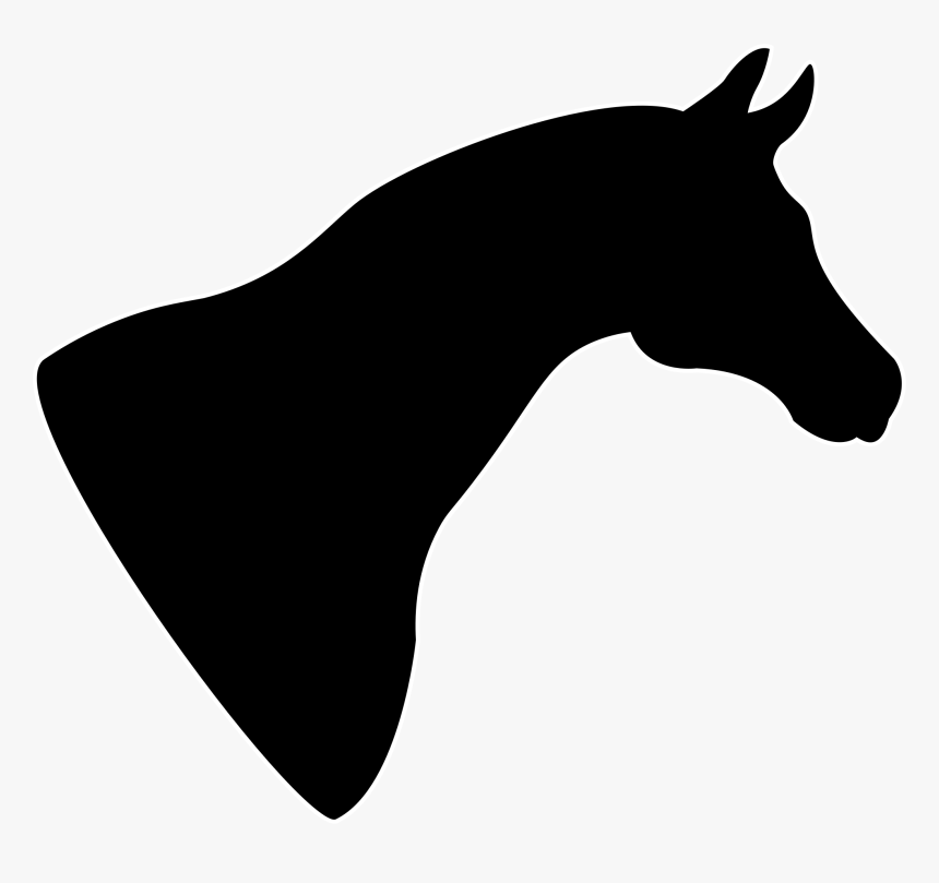 Clipart - Silhouette Horse Head Clipart, HD Png Download, Free Download