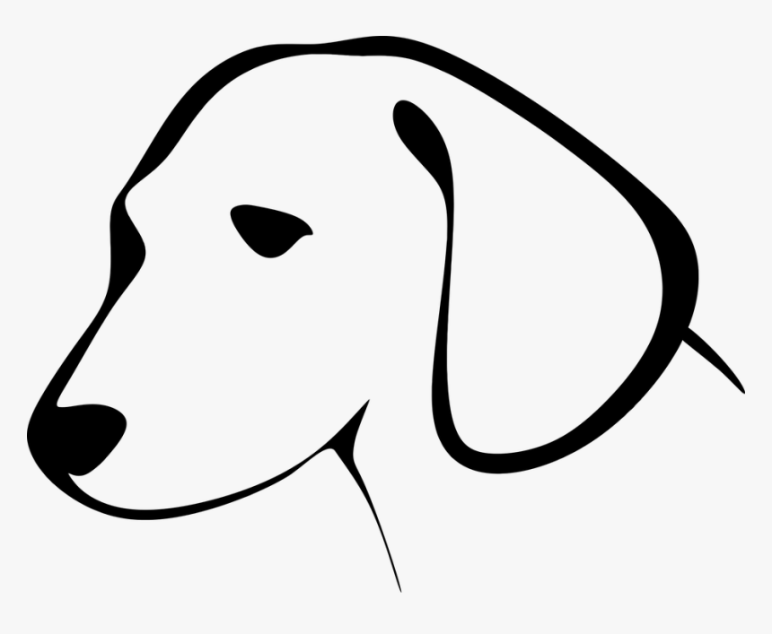 Animal, Canine, Dog, Encouraging, Pet, Silhouette - Dog Head Clipart Black And White, HD Png Download, Free Download