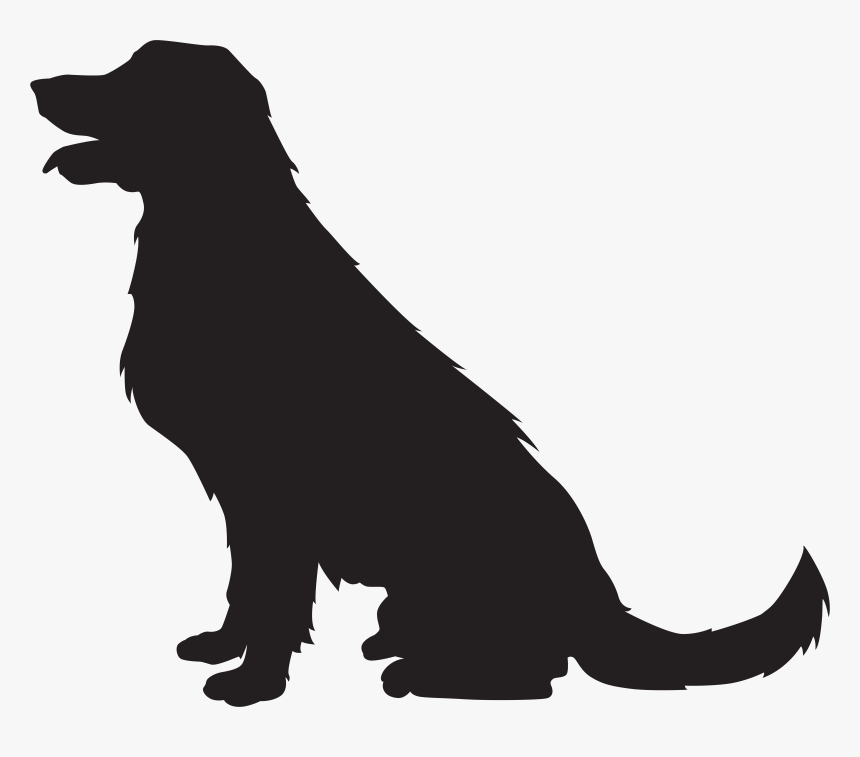 Dog Silhouette Png Transparent Clip Art Image, Png Download, Free Download