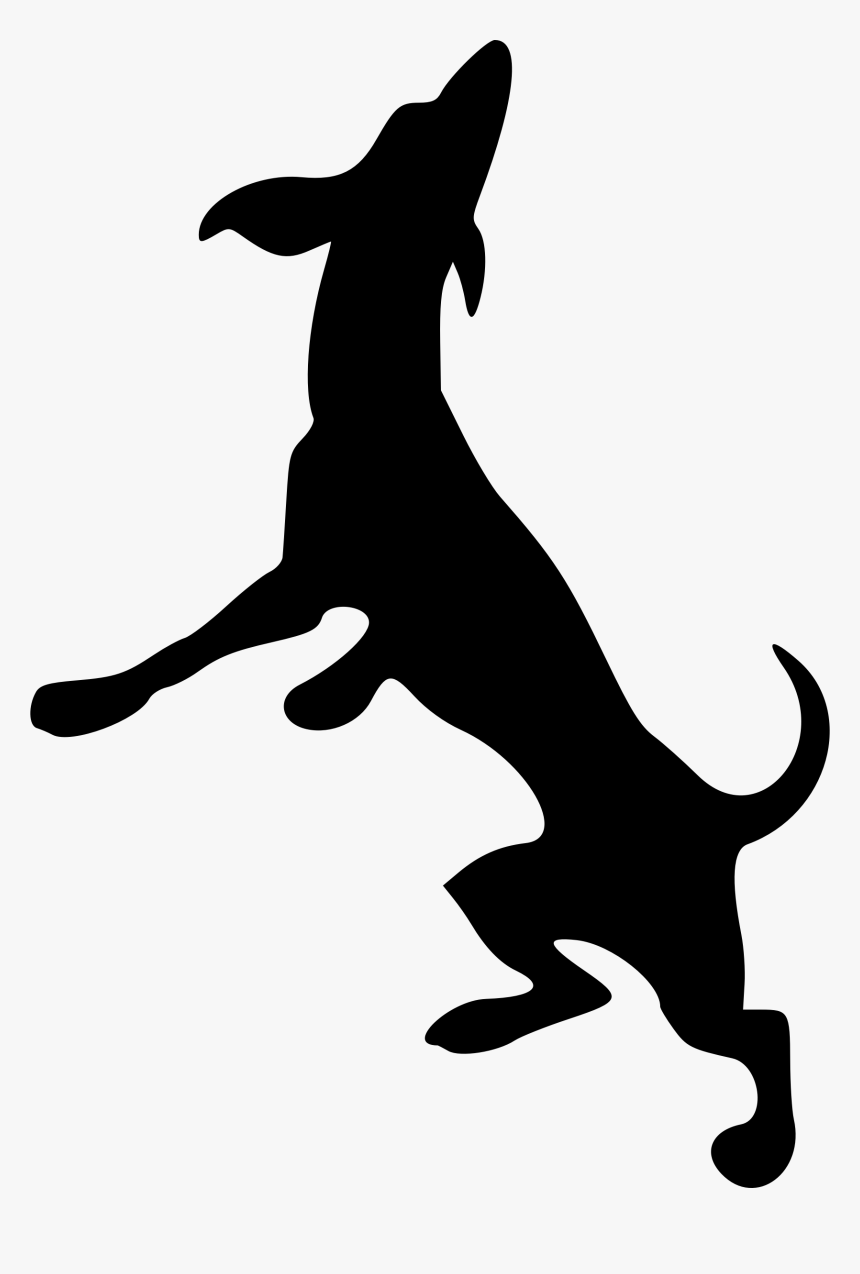Transparent Dog Head Silhouette Png - Dog Playing Silhouette Png, Png Download, Free Download