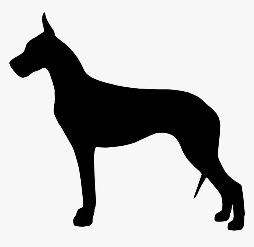 Silhouette Images At Getdrawings - Silhouette Great Dane Clipart, HD Png Download, Free Download