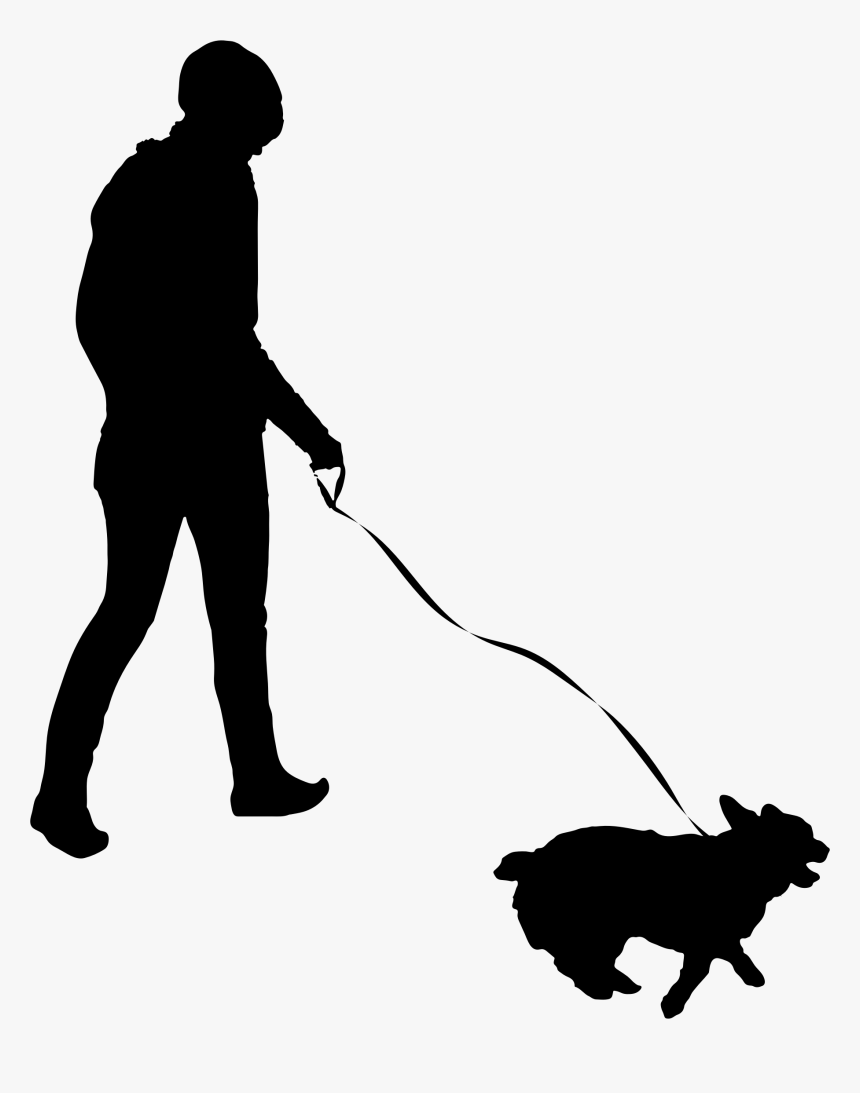 Image Freeuse Silhouette At Getdrawings Com Free For - Walking Dog Silhouette Png, Transparent Png, Free Download