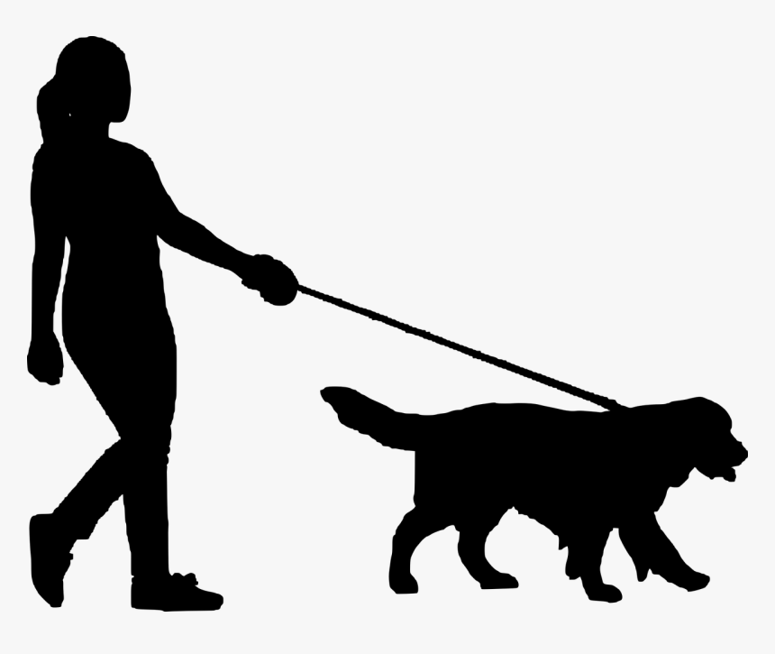 Walking Dog Silhouette Png, Transparent Png, Free Download