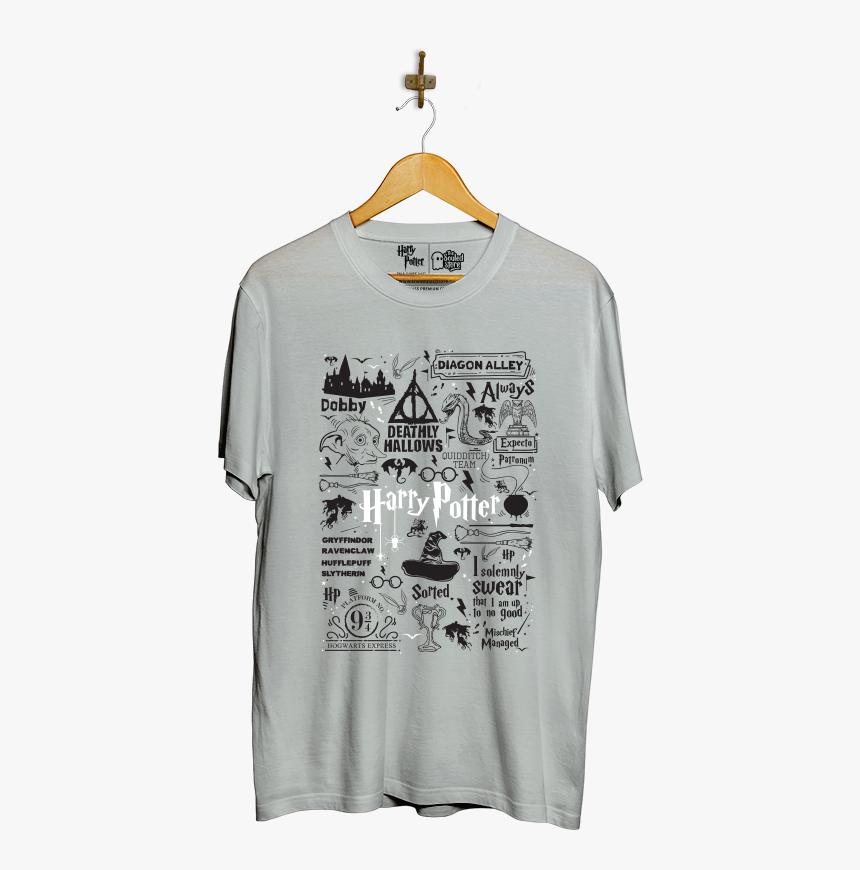 Doodle T-shirt - Gryffindor Harry Potter Doodle, HD Png Download, Free Download