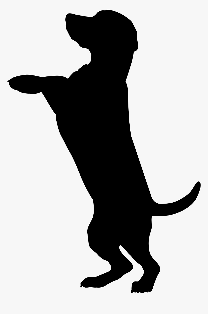 Dog Silhouette Png Clip Art Image - Silhouette Dog Clipart Png, Transparent Png, Free Download