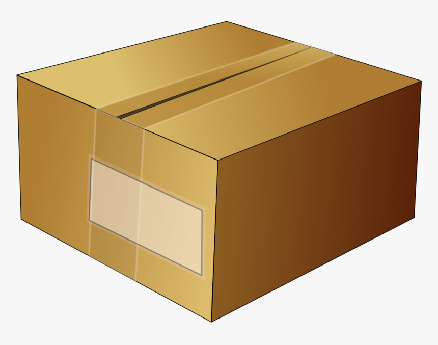 Box, Cardboard, Carton, Sealed, Taped, Package, Packing - Package Clipart, HD Png Download, Free Download