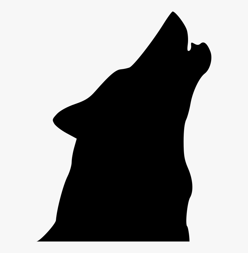 Wolf, Head, Silhouette, Face, Call, Howling, Howl - Howling Wolf Head Silhouette, HD Png Download, Free Download