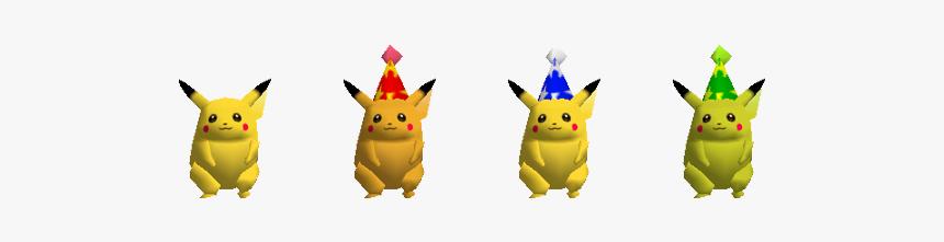 "Alternate Skins For Pikachu In The Original ""super - Party Hat Pikachu Smash, HD Png Download, Free Download"