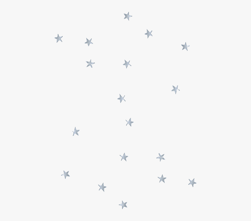 Aesthetic Silver Stars Png, Transparent Png, Free Download