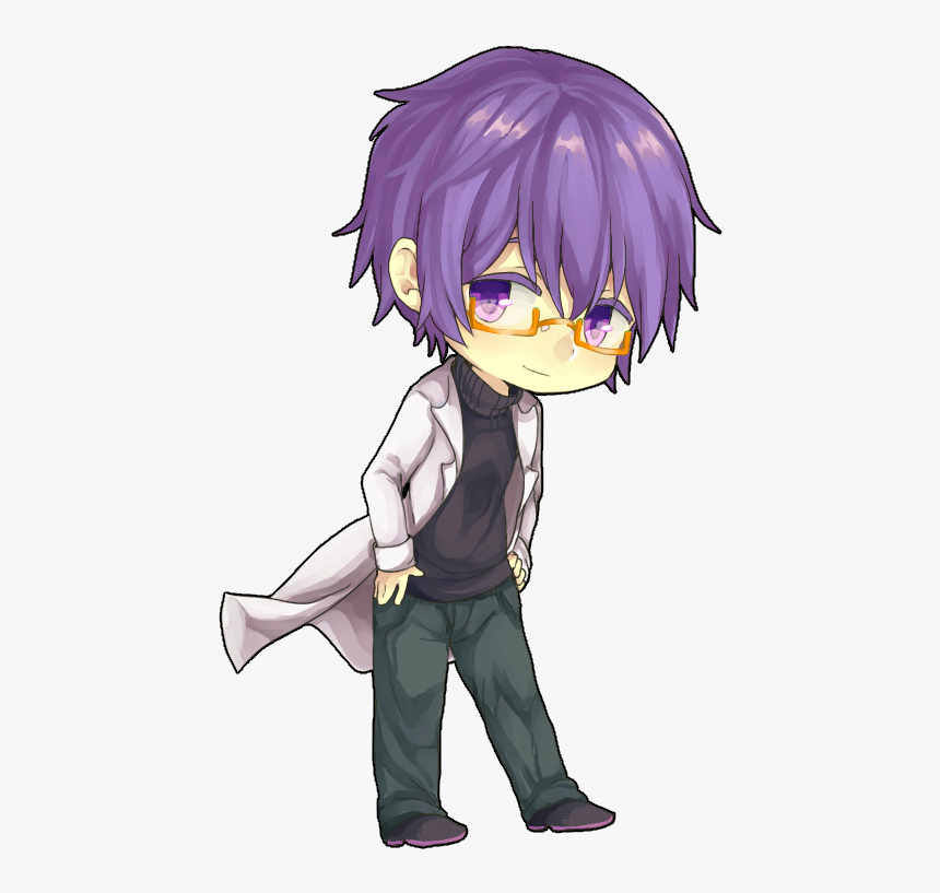 View Purple Haired Anime Boy Fanart PNG
