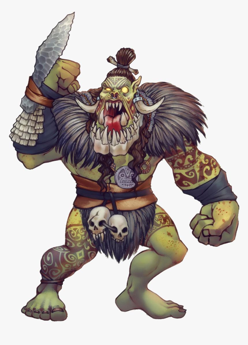 Clip Art Orc Concept Art Half Orc Ranger Art Hd Png Download Kindpng
