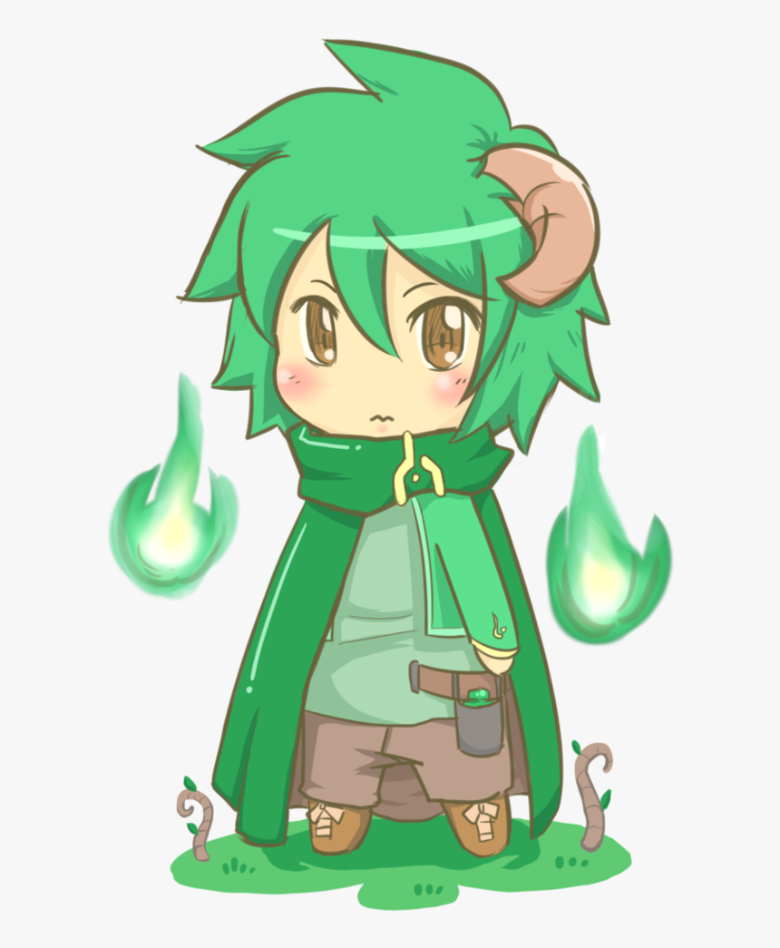 Earth Chibi Forest Chibi Anime Boy Green Hair Hd Png Download Kindpng