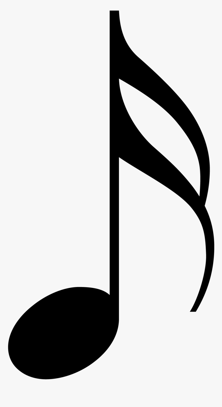 Music Note Pictures For Training - Music Note Tattoo Stencils, HD Png Download, Free Download