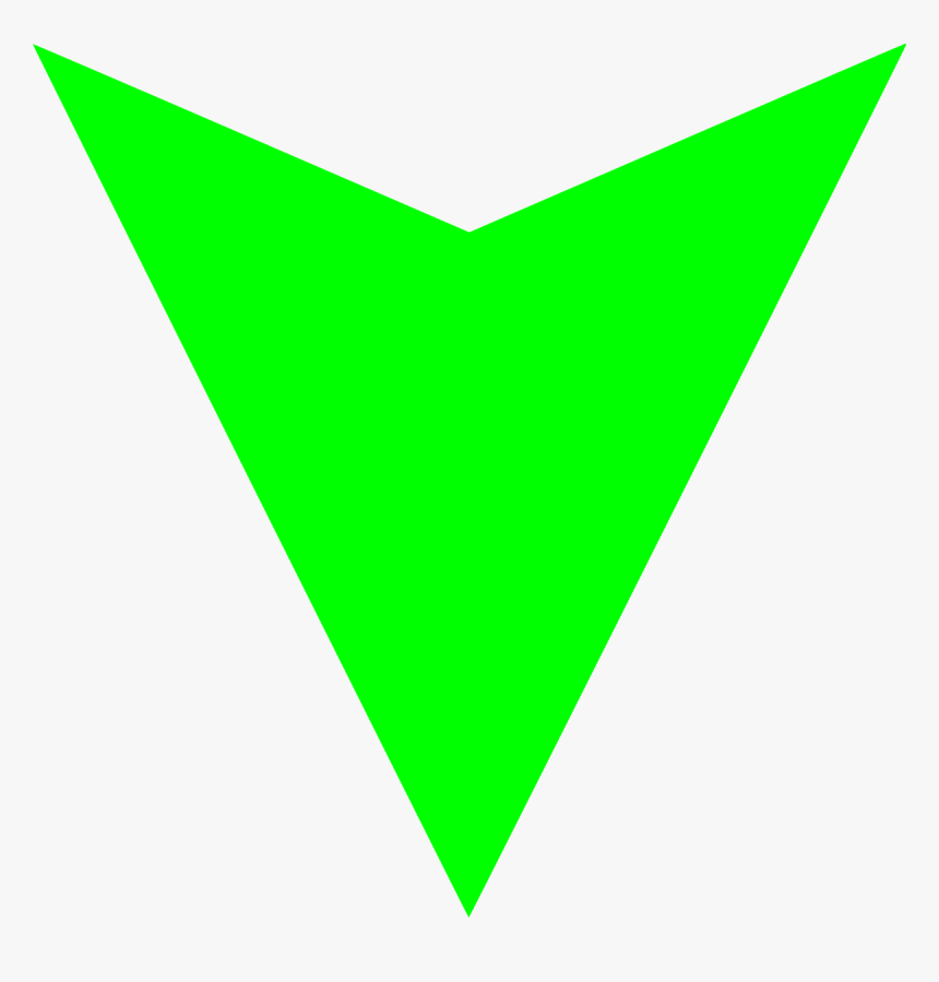 Down Green Picture Arrow Png - Green Down Arrow Icon, Transparent Png, Free Download