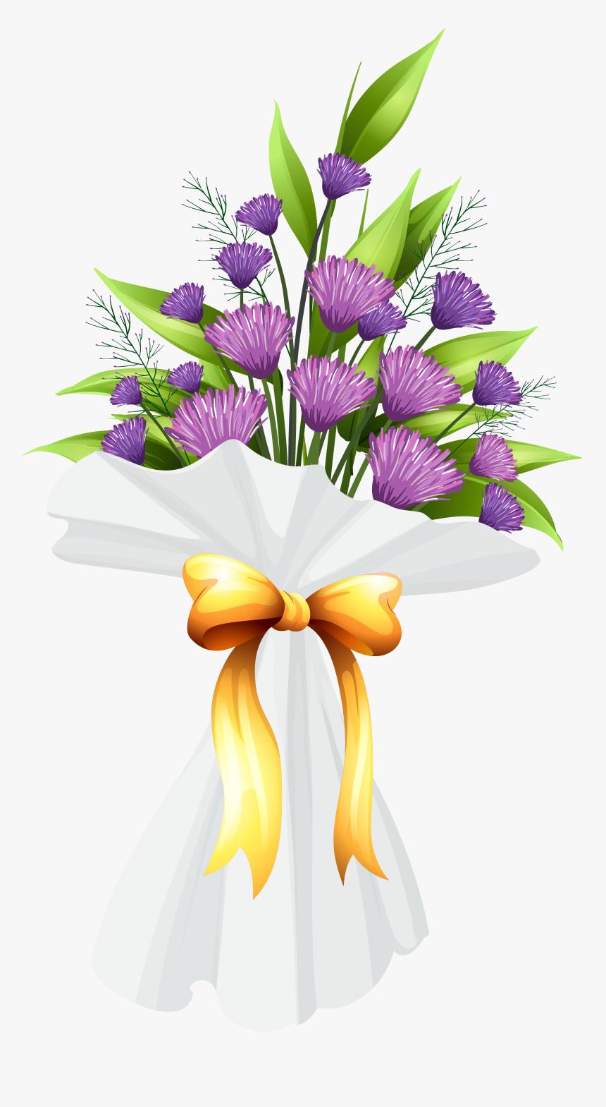 Purple Flowers Bouquet Png Clipart Image Transparent Png Kindpng