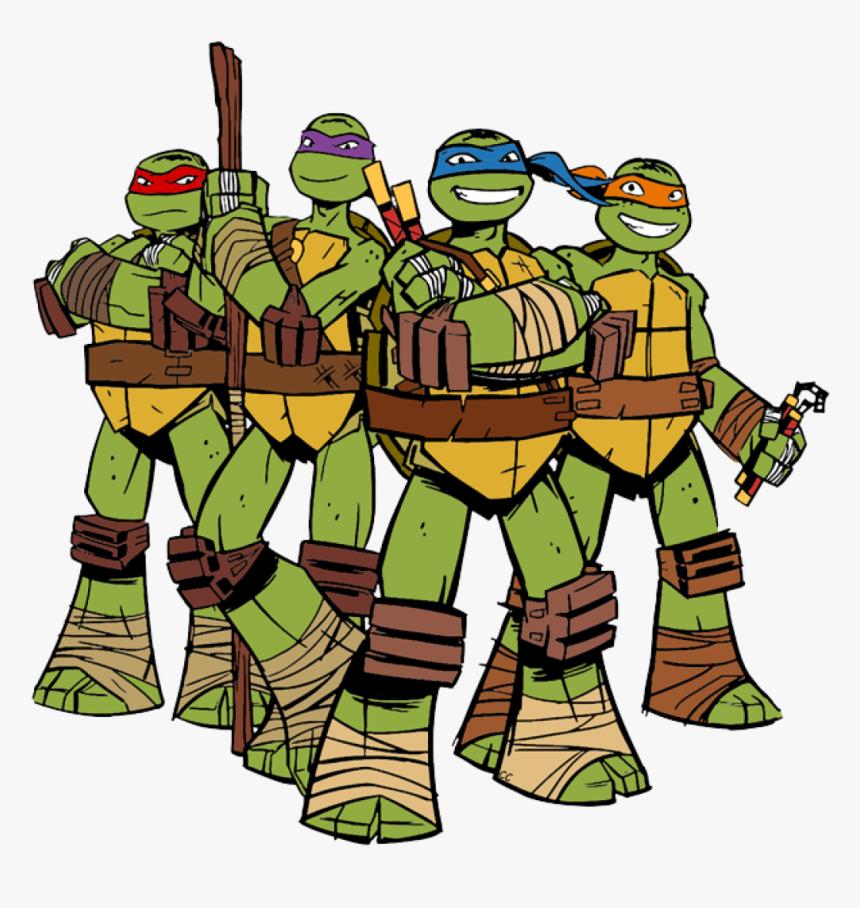 Teenage Mutant Ninja Turtles 2012 Clip Art Cliparts - Raphael Leonardo Michelangelo Raphael Ninja Turtles, HD Png Download, Free Download