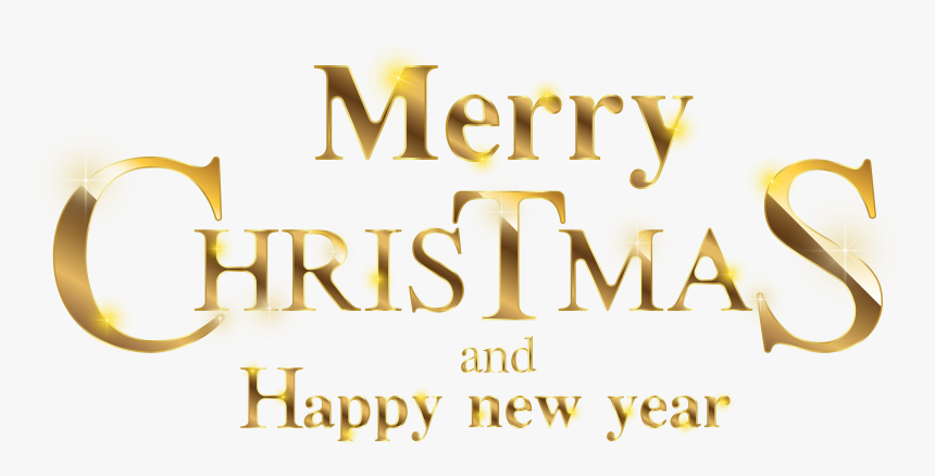 Transparent Gold Christmas Clipart - Merry Christmas And Happy New Year 2019 Png, Png Download, Free Download