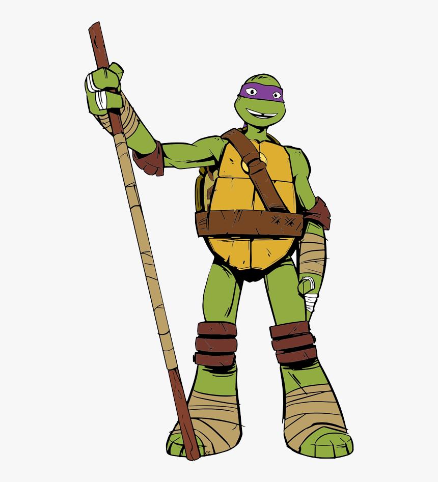 Donatello Ninja Turtle Cartoon, HD Png Download, Free Download