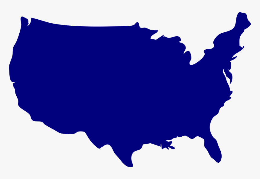 Us, United States, Russia, Map, America, Flag, Shape - Usa Map Outline Color, HD Png Download, Free Download