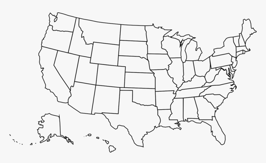 Usa, Map, United, States, Of, America, Us, American - Crater Lake Us Map, HD Png Download, Free Download