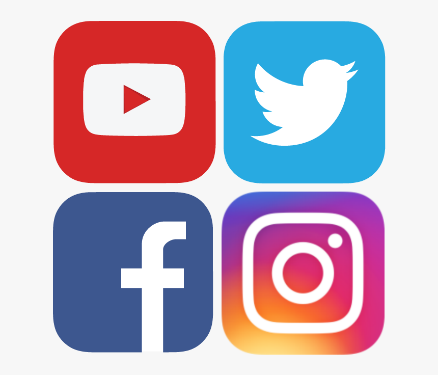 Clip Art Facebook And Instagram Icons - Facebook Instagram Youtube Logo, HD Png Download, Free Download