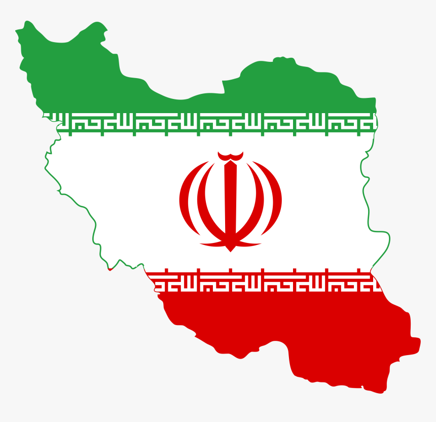 Iran Map With Flag, HD Png Download, Free Download