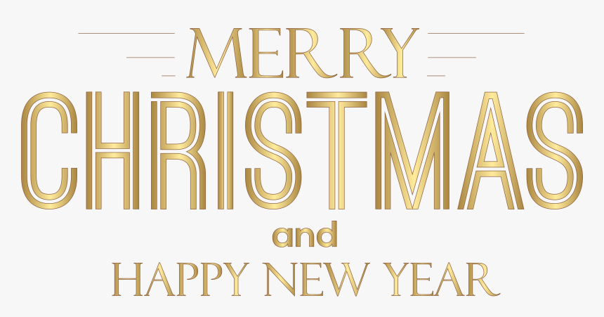 Merry Christmas And Happy New Year Text Png Clip Art - Merry Christmas And Happy New Year Calligraphy Png, Transparent Png, Free Download