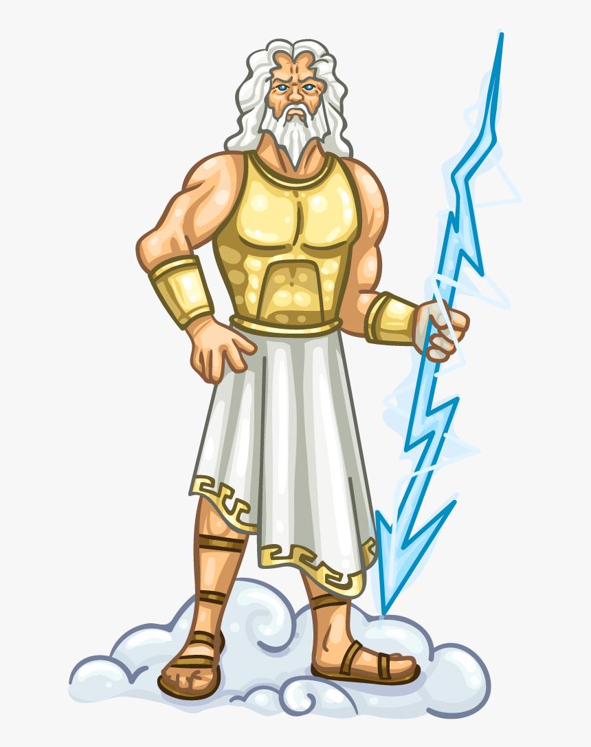 Greek Presentation Name - Zeus Greek God Clipart, HD Png Download, Free Download
