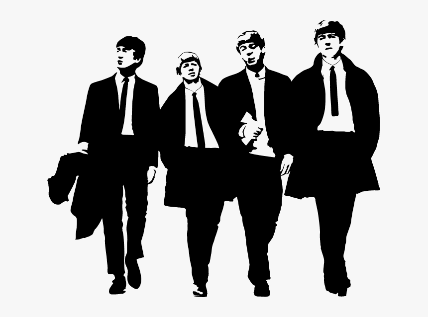 The Beatles Abbey Road Silhouette Clip Art - Beatles Transparent, HD Png Download, Free Download