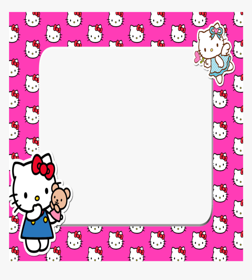#mq #pink #hellokitty #frame #frame #frames #border - Hello Kitty Frame Png, Transparent Png, Free Download