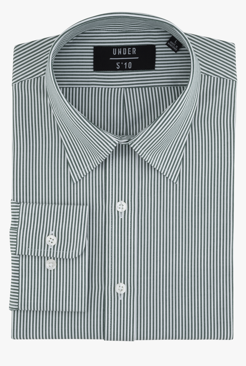 Green Striped Modern Oxford Shirt For Short Men And - Active Shirt, HD Png Download, Free Download