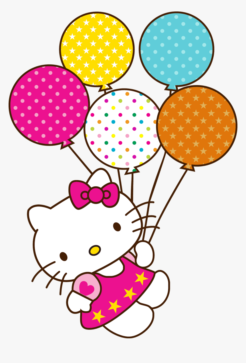 Pin By Tisha Coetzee On Graphics Board - Birthday Hello Kitty Png, Transparent Png, Free Download