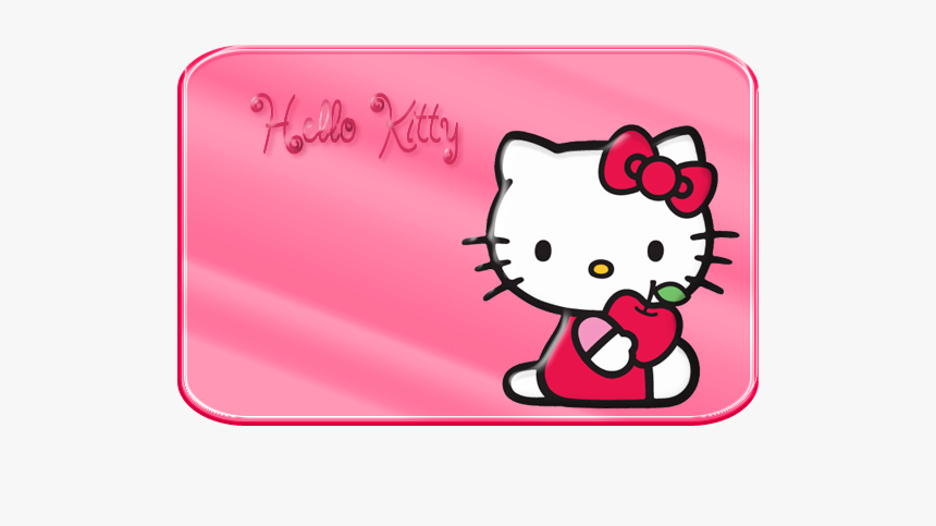 Borders, Images And Backgrounds - Hello Kitty With Apple, HD Png Download, Free Download