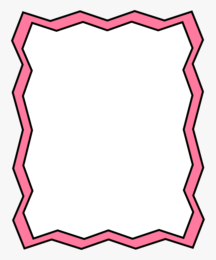 Full Page Pink Zig Zag Frame - Zig Zag Page Border, HD Png Download, Free Download