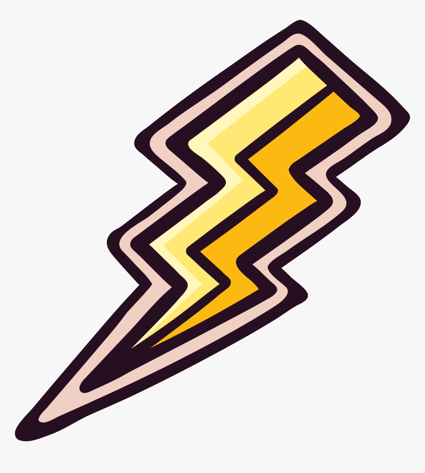 Lightning Thunder Sticker Icon - Thunder Sticker Png, Transparent Png, Free Download