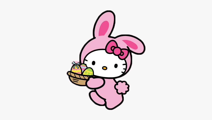 Hellokitty Png Packs - Hello Kitty Easter Gif, Transparent Png, Free Download