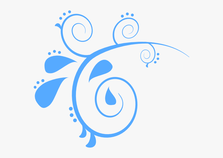 Blue Swirl Png - Blue Swirls Clipart, Transparent Png, Free Download