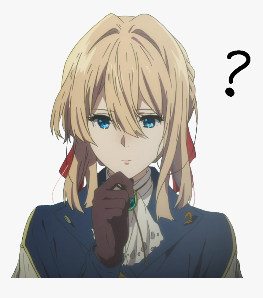 Anime Girl Confused Png, Transparent Png - kindpng